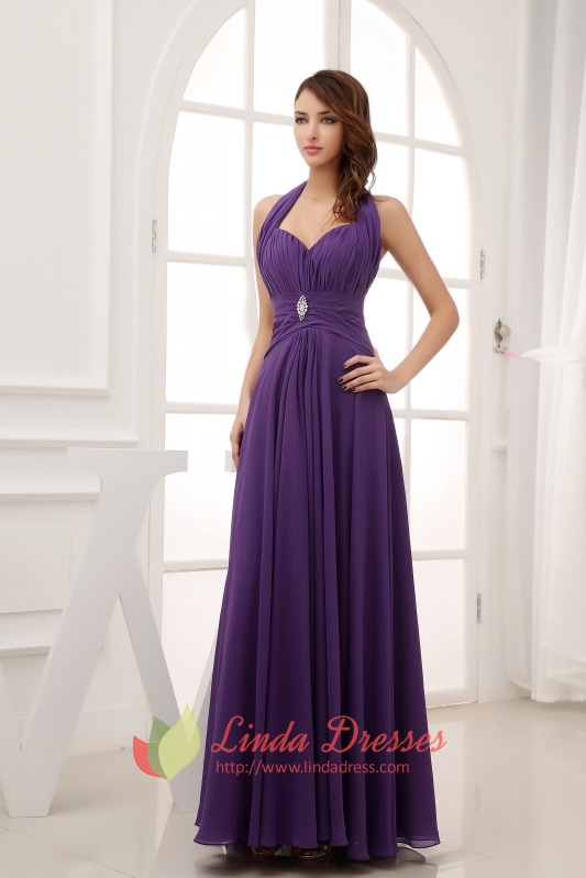 Long Purple Prom Dresses