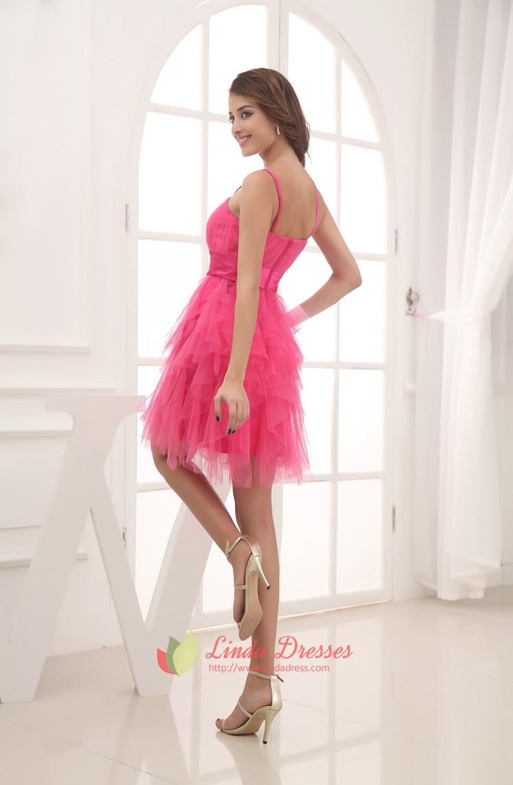 Prom Dresses Pink Puffy - Discount Evening Dresses