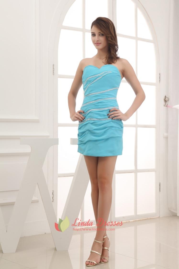 Aqua Blue Dresses For Juniors Blue Strapless Mini Dress
