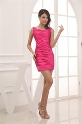 Hot Pink Skater Mini Dress,Cute Little Pink Dresses Vintage
