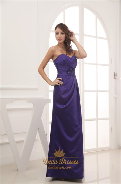 Show details for Dark Purple Bridesmaid Dresses Long,Purple Bridesmaid Dresses With Purple Flowers