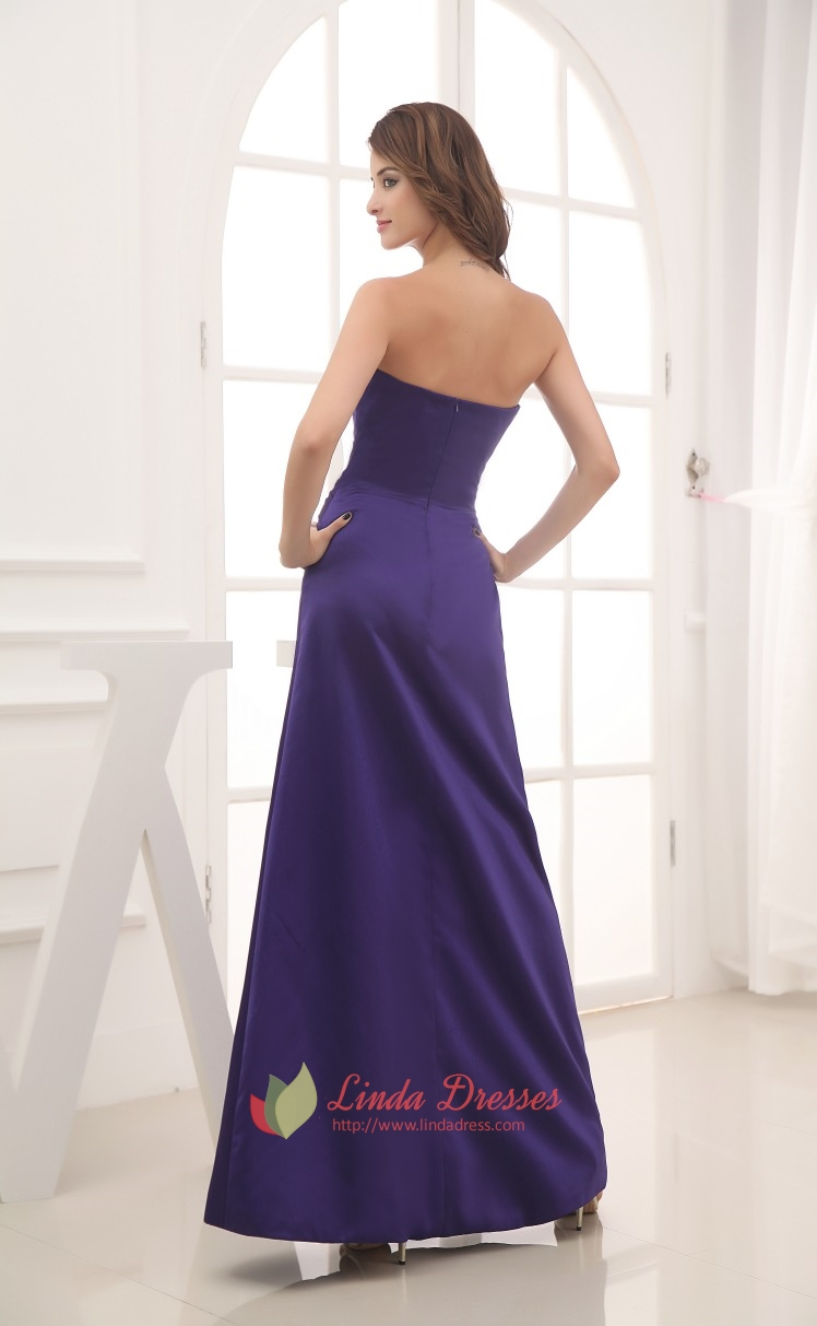 Dark purple bridesmaid dresses longpurple bridesmaid for Purple long dress for wedding