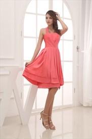 92e7a789a2d Coral Short Bridesmaid Dresses