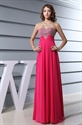 Show details for Hot Pink Prom Dresses With Diamonds 2021 For Women,Fuschia Crystal Beaded Top Long Prom Dress