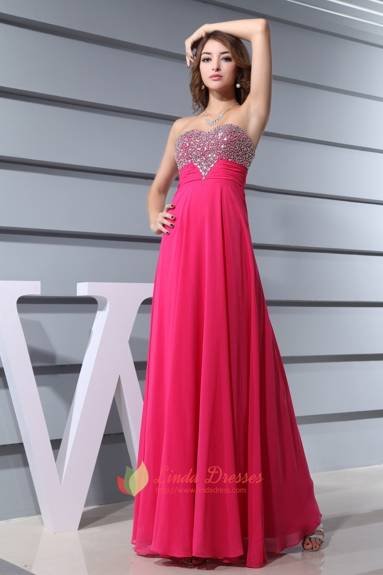 Hot Pink Prom Dresses With Diamonds 2016 For Women,Fuschia ...