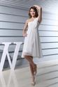 Show details for Draped One Shoulder Chiffon Shift Dress,White One Shoulder Dress Short