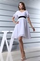 Show details for Short White Dress Gown With Long Sleeves For Women,Cocktail Dresses With Sleeves For Wedding