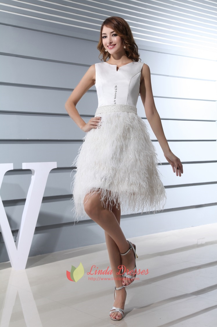 Knee Length Cocktail Dresses With Sleeves,Feather Bottom Cocktail ...
