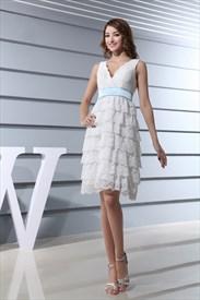 White Lace Dress Knee Length,Short White Lace Cocktail Dress Vintage