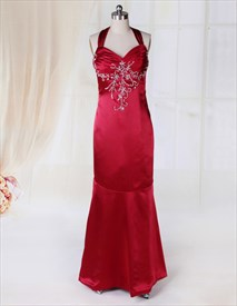 Red Prom Dresses Open Back,Long Dark Red Prom Dresses 2019