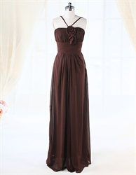 Brown Prom Dresses With Spaghetti Straps For Women,Spaghetti Strap Dress Tank Top