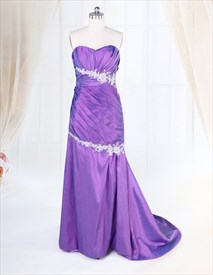 Purple Prom Dresses 2019,Purple Prom Dresses Long With Train