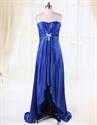 Blue High Low Prom Dress,Blue High Low Bridesmaid Dresses