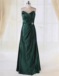 Emerald Green Dresses For Women,Dark Emerald Green Bridesmaid Dresses Long UK 2018