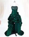 Show details for Dark Green High Low Dress With Crystal Stones embellishments,Emerald Green High Low Dress