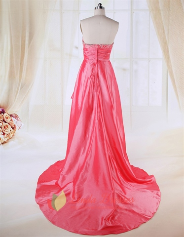 Coral High Low Prom Dresses 2018,High Low Dresses Casual Coral