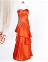 Show details for Bright Orange Prom Dresses 2021,Orange Long Layered Prom Dresses