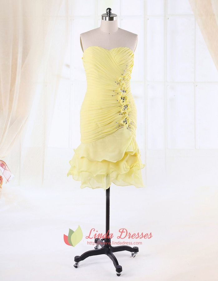 Cocktail Dresses Yellow 52