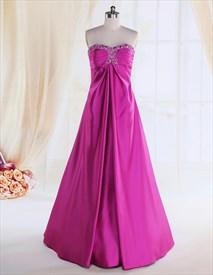 Purple Strapless Bridesmaid Dresses,Strapless Bridesmaid Dresses Long ,Magenta Bridesmaid Dresses