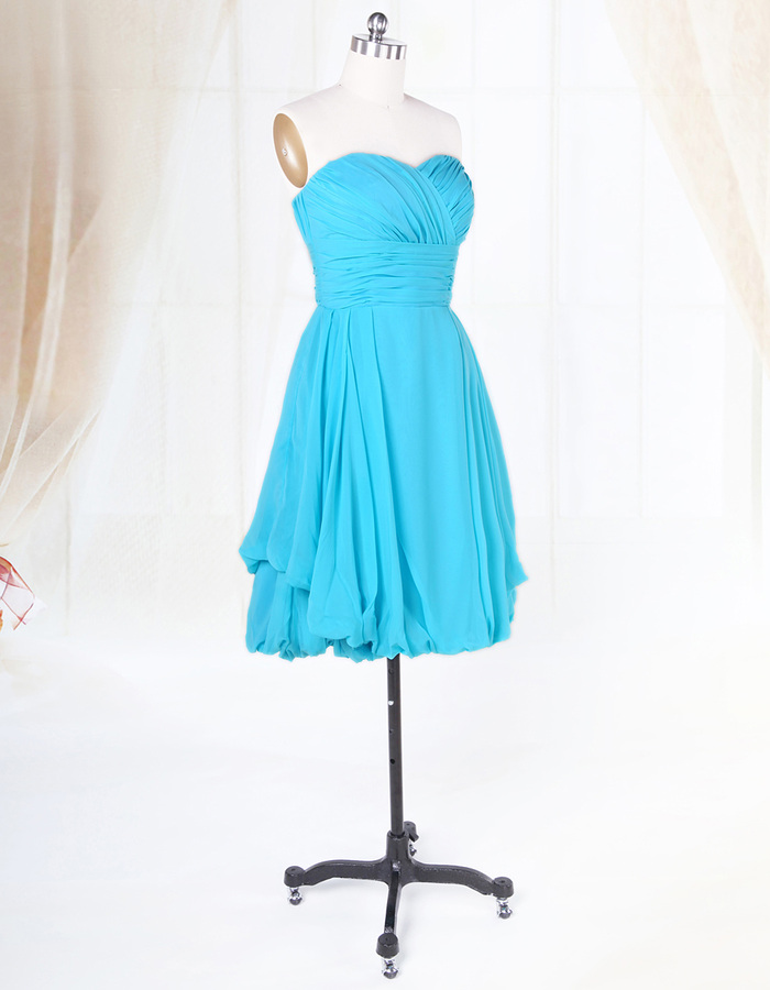 Short Aqua Blue Bridesmaid Dresses For Beach Wedding,Light ...