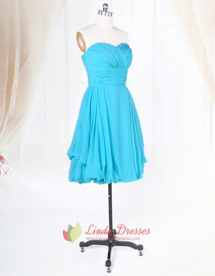 Short aqua blue bridesmaid dresses for beach wedding light for Blue beach wedding dresses