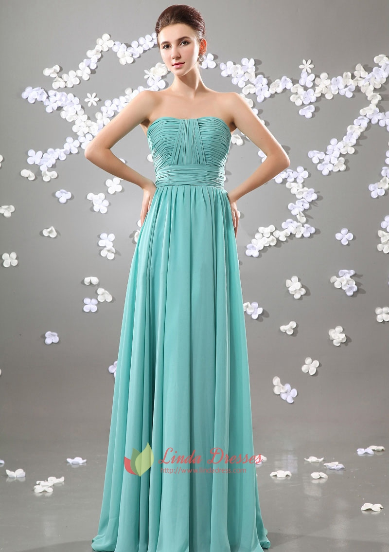 Turquoise Bridesmaid Dresses For Beach Wedding Long With Straps