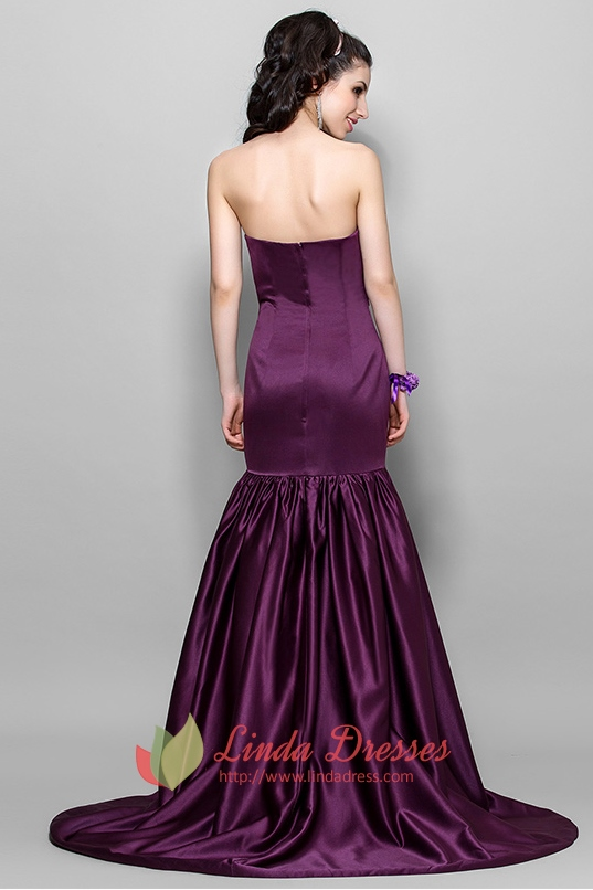 Elegant Dark Eggplant Purple Mermaid Prom Dress 2016 ...