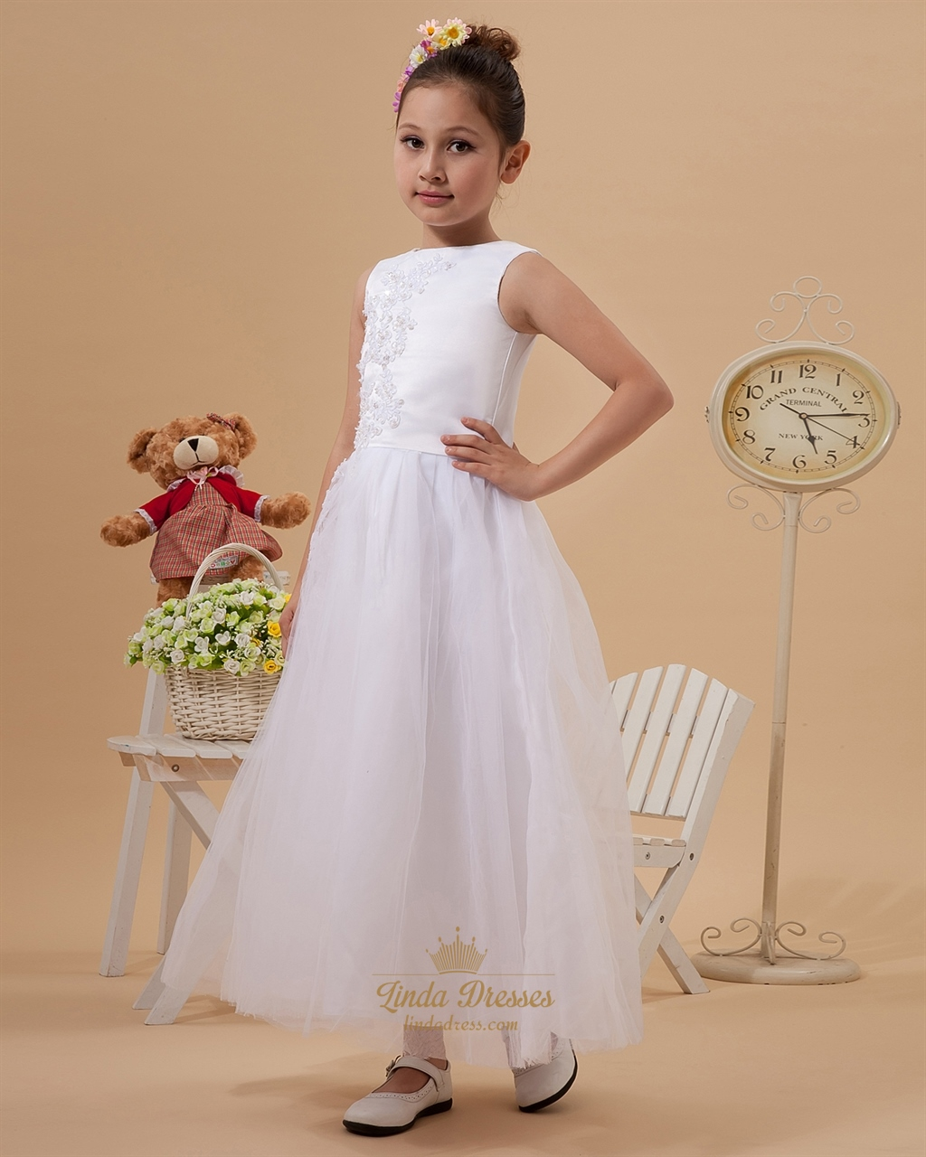 f0ca96d39b Create a Dress - Satin with Tulle Skirt Dresses - Flower Girl .