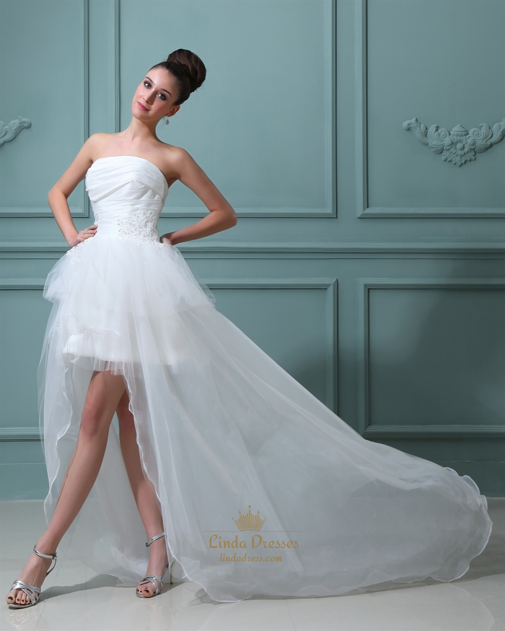 Wedding Dress Short In Front Long Back | Linda Dress