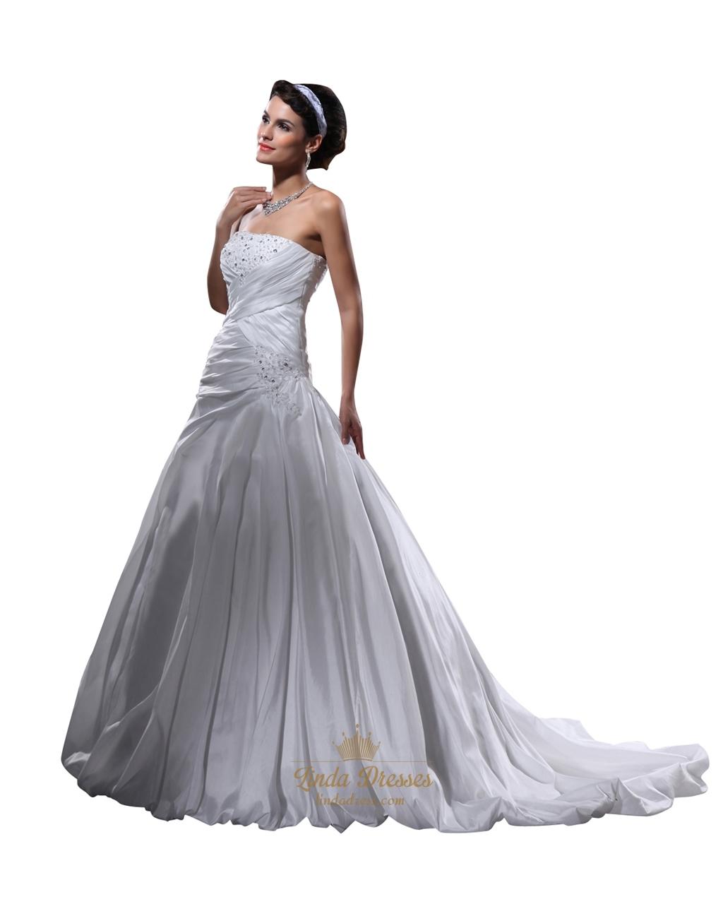 Ivory Taffeta Dress