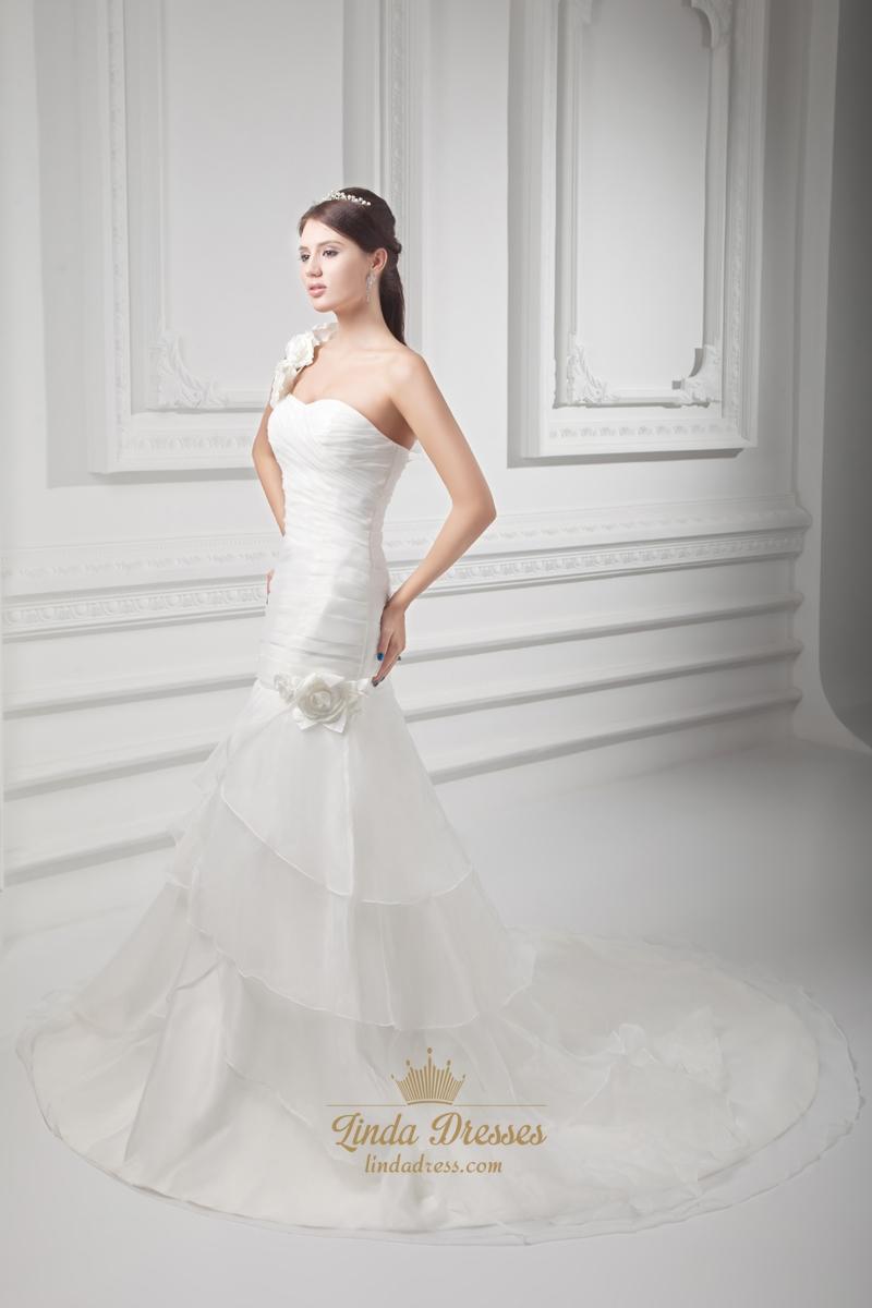 Shoulder one ivory wedding dresses advise dress for summer in 2019