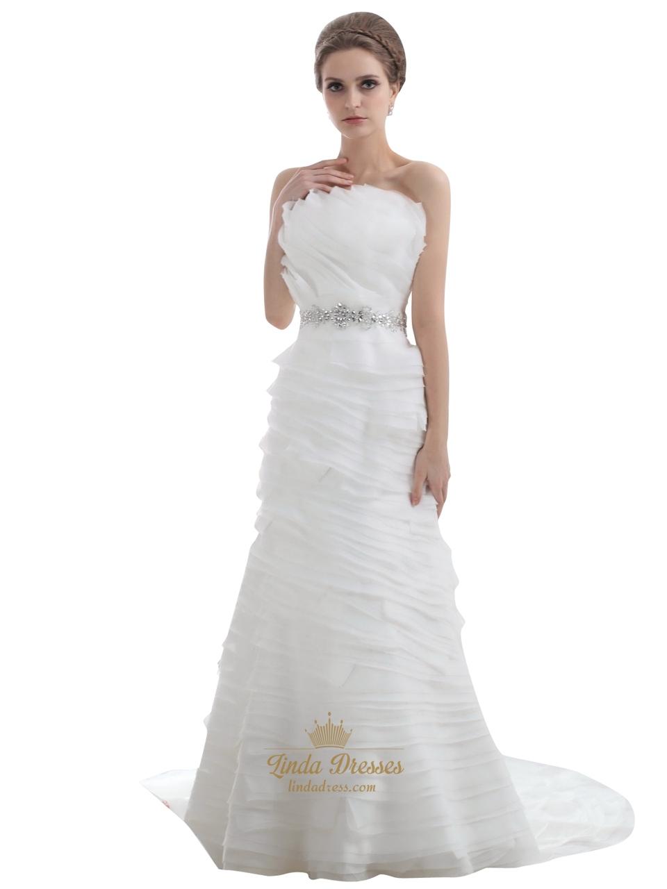 Gathered Wedding Dress