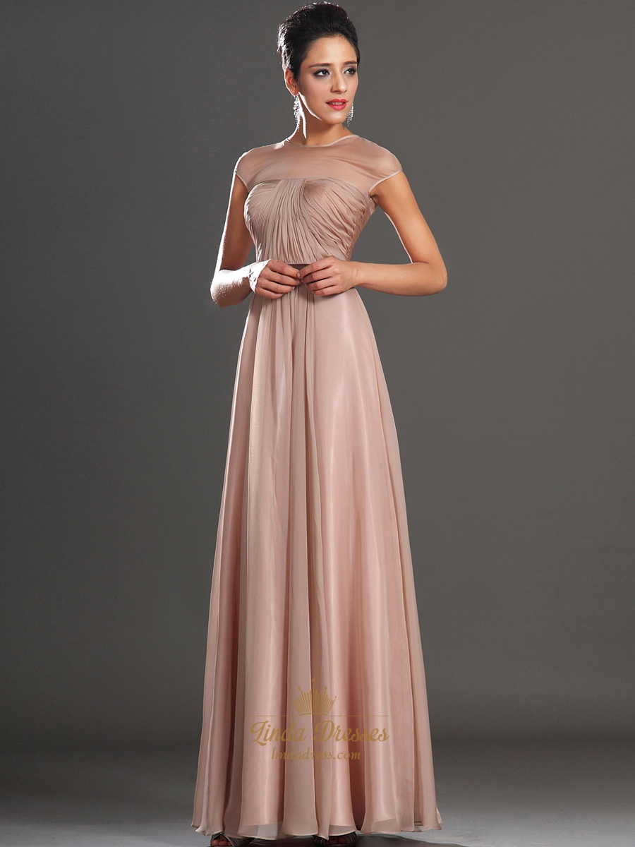 Pastel pink evening dresses