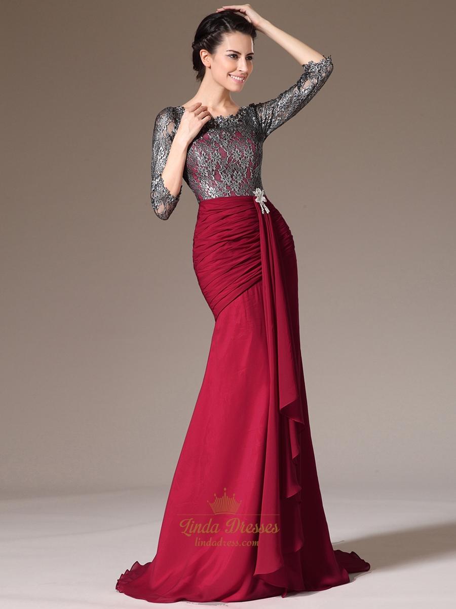3 4 Length Prom Dresses 76