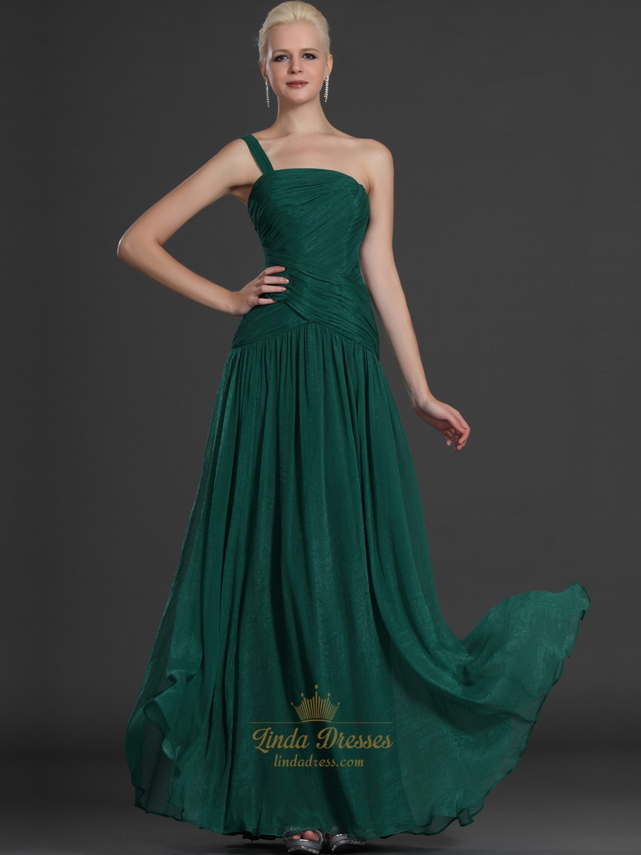 Emerald green one shoulder chiffon bridesmaid dresses with ruching emerald green one shoulder chiffon bridesmaid dresses with ruching ombrellifo Gallery