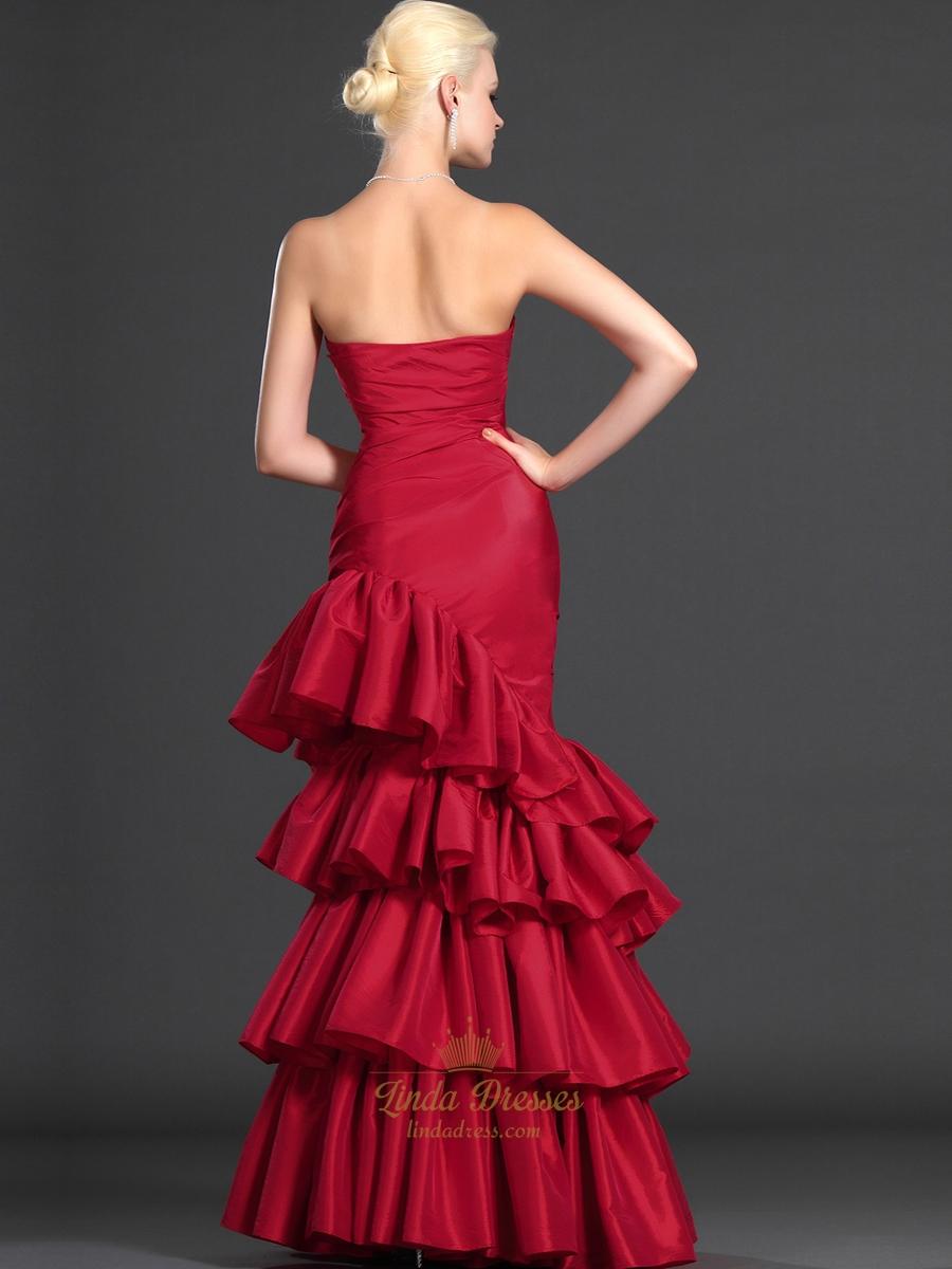 dress - Red dress taffeta pictures video