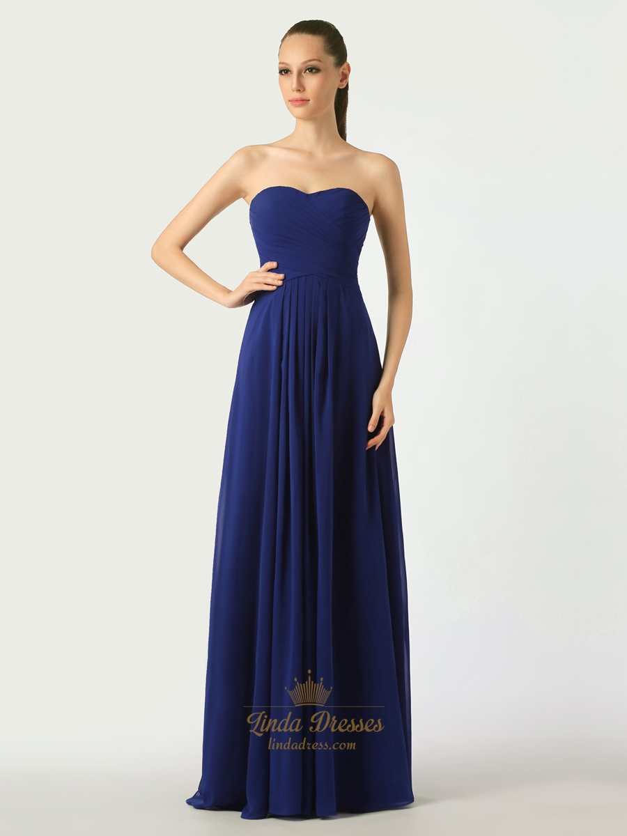 Royal strapless blue bridesmaid dresses photo new photo
