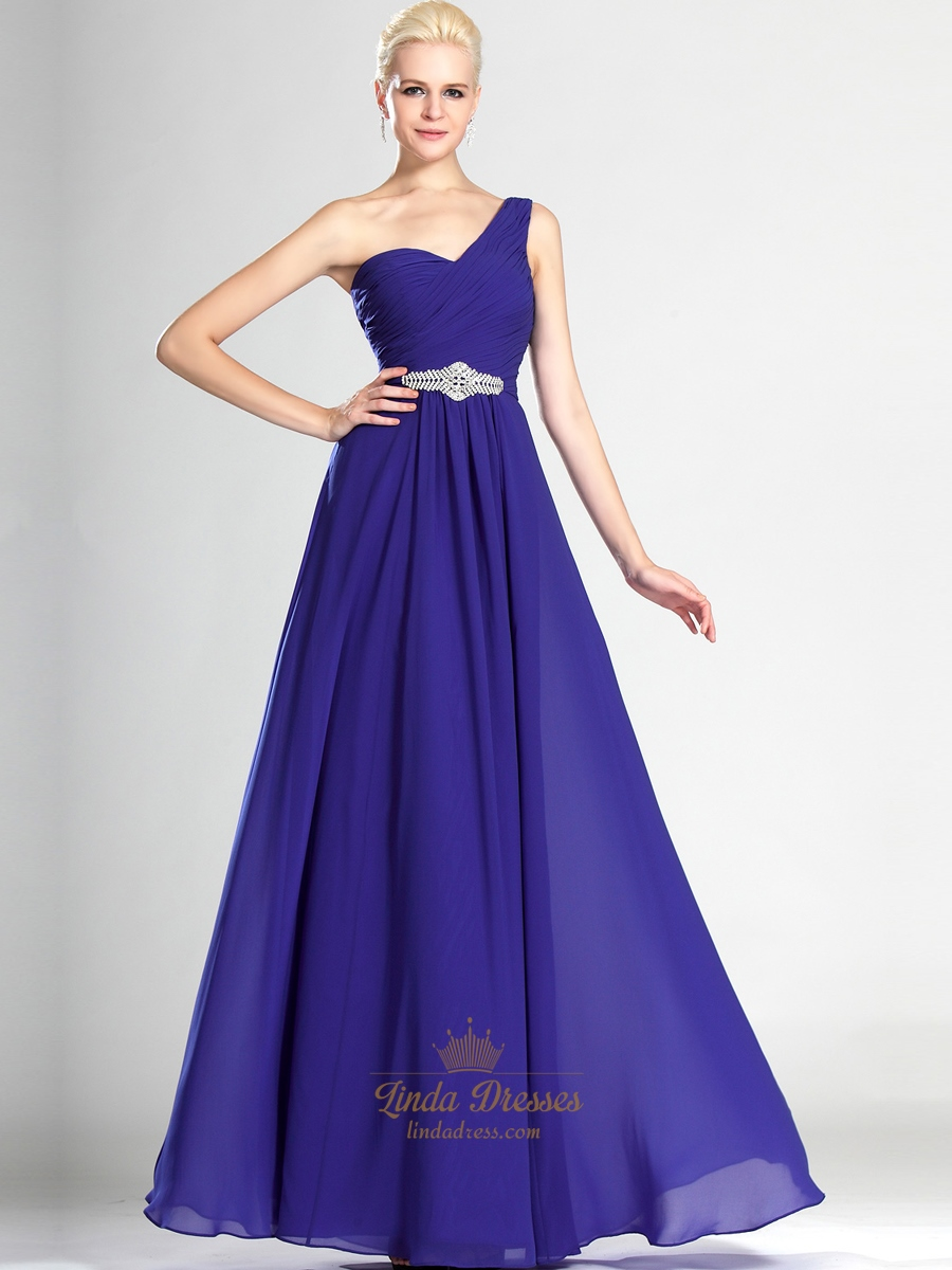 Awesome one shoulder purple bridesmaid dress pattern for Wedding dress with blue detail