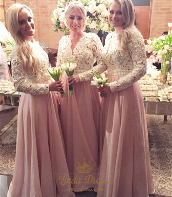 Lace Top Bridesmaid Dress