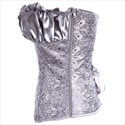 Show details for Sweetheart Overbust Cashew Pattern Pleated Court Royal Corset
