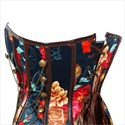 Show details for Gothic Strapless Overbust Skeleton Pattern Court Royal Corset