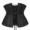 Show details for Black Lace Embellished Short Waist Training Mesh Cincher Corset