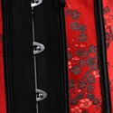Show details for Red Lace Embellished Overbust Shaper Court Royal Corset