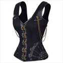 Show details for Gothic Steel Boned Pattern Shaper Court Royal Corset With Straps