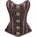 Show details for Gothic Jacquard Leather Embellished Court Royal Corset