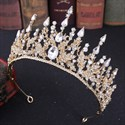 Show details for Baroque Alloy Crystal Bridal Tiara With Rhinestone Accents