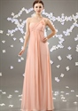 Show details for Blush Pink One Shoulder Bridesmaid Dress,Long Pale Pink Bridesmaid Dresses