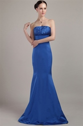 Blue Mermaid Prom Dresses 2018,Elegant Mermaid Evening Gowns Dresses UK Online