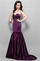 Show details for Elegant Dark Eggplant Purple Mermaid Prom Dress 2021