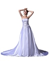 Show details for Lavender Strapless Sweep Train Prom Dress With Ruched Bust And Beading